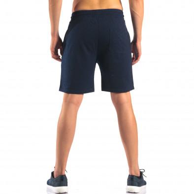 Мъжки сини шорти с емблема it160616-3 3