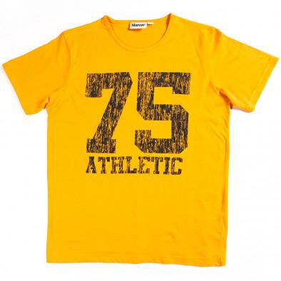 Мъжка тениска Marcus с яка щампа  070213-5 2