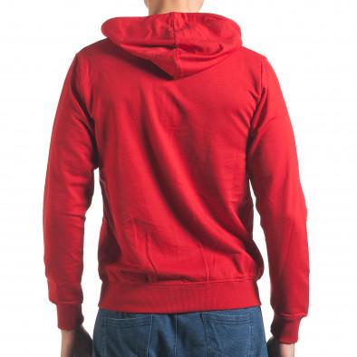 Червен мъжки суичър с цип отпред it250416-94 3