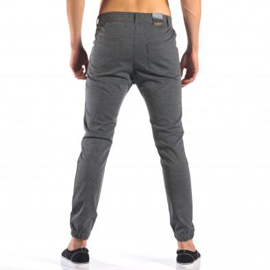 Мъжки светло сив панталон с еластични маншети на крачолите it160616-26 3