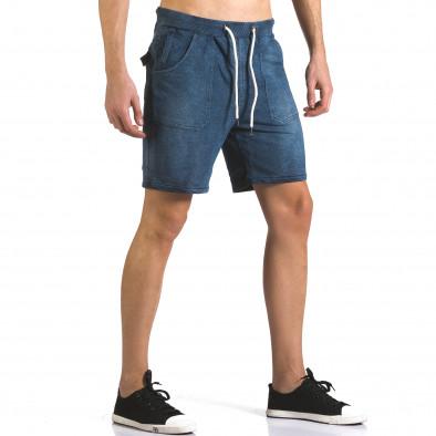 Мъжки шорти с ефект на дънки it110316-79 4