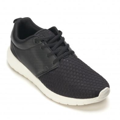 Мъжки черни маратонки олекотен модел it090616-2 3