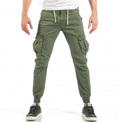 263e4ac6ced Мъжки зелени карго панталони с цип it260318-100 | Fashionmix.bg