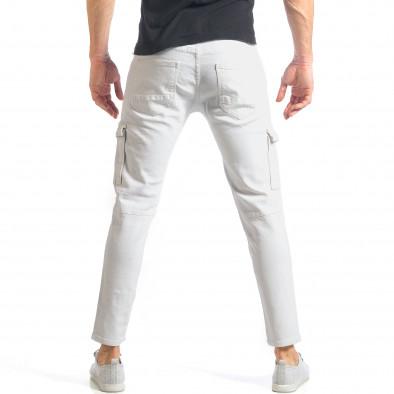 Мъжки бели дънки с карго джобове it290118-19 3