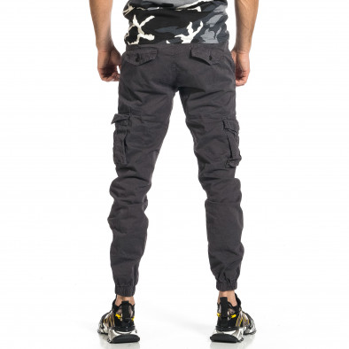 Мъжки сив карго панталон Jogger & Big Size tr270421-10 3