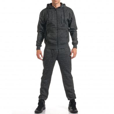 Мъжки тъмно сив спортен комплект с ципове it160916-61 2