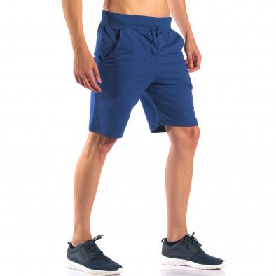 Мъжки сини шорти за спорт изчистен модел it160616-7 4