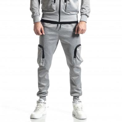 Мъжки сив спортен комплект Cagro style it010221-70 4