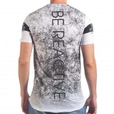 Мъжка бяла тениска Think Positive il060616-62 3