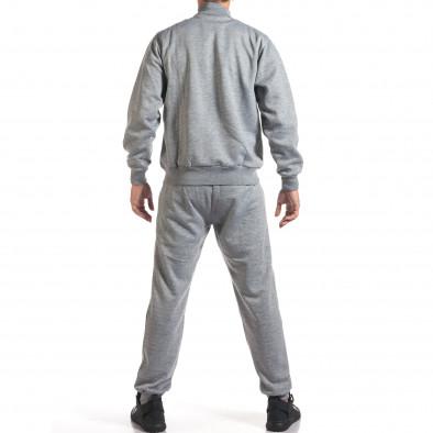 Мъжки светло сив спортен комплект с релефен надпис N&Y it160916-80 3