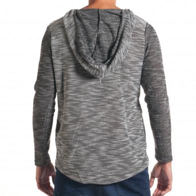Мъжки светло сив суичър с асиметрична кройка it240816-1 3