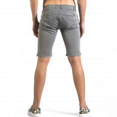 Мъжки сиви къси панталони с фин принт по плата it110316-50 3