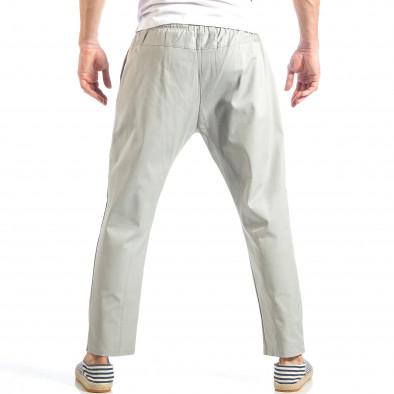Мъжки свободен панталон в сиво с ластик it040518-18 4