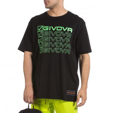 Мъжка черна тениска Givova Big Size it040621-17 3