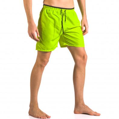 Неоново зелени бански тип шорти с връзки Yaliishi 5