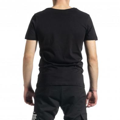 Мъжка черна тениска My Story tr270221-42 3