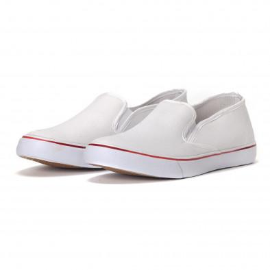 Мъжки класически slip-on кецове в бяло it240418-8 3