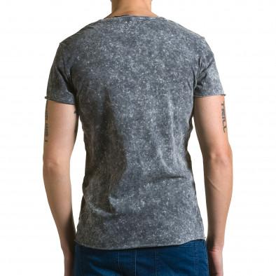 Мъжка сива асиметрична тениска с обърната буква А ca190116-48 3