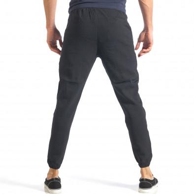Мъжко черно долнище със странични кантове it070218-10 4