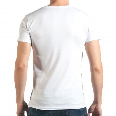Мъжка бяла тениска с 2 черепа il140416-11 3