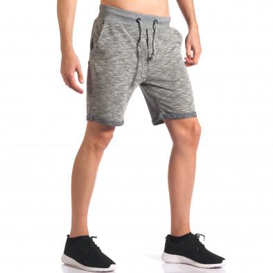 Мъжки сиви спортни шорти it250416-11 4