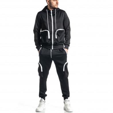 Мъжки черен спортен комплект Cagro style it010221-57 2