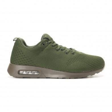 Мъжки зелени маратонки с въздушни камери it291117-14 2