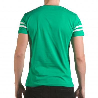 Мъжка зелена тениска с голям номер 9 il170216-19 3