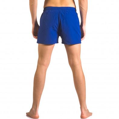 Мъжки сини бански шорти с джобове отпред ca050416-7 3