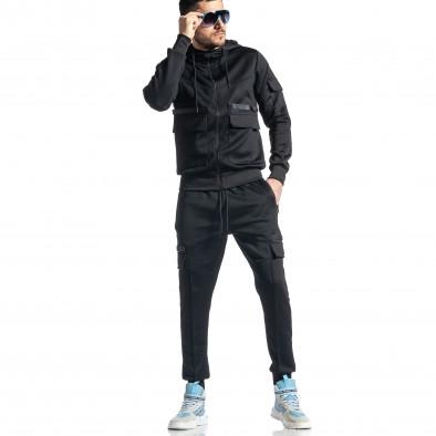 Мъжки черен спортен комплект 7джоба it010221-55 3
