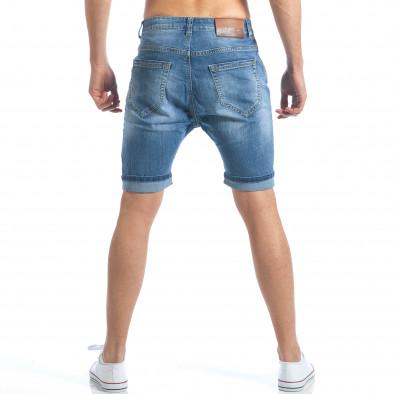 Мъжки къси дънки с големи декоративни скъсвания it190417-57 3