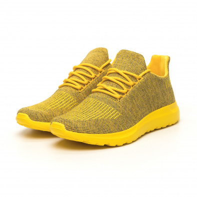 Мъжки маратонки жълт меланж с декорация it171019-2 3