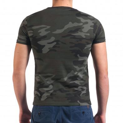 Мъжка камуфлажна тениска с Айфеловата кула Italian Boy 4