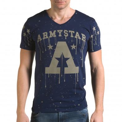Мъжка синя тениска Armystar Lagos 4