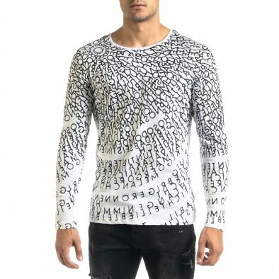 Мъжка бяла блуза Melancholy tr020920-54 2