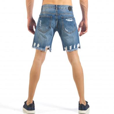 Мъжки непоръбени къси дънки в синьо it260318-123 3
