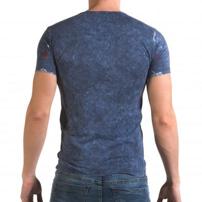 Мъжка синя тениска Casino Lagos 4