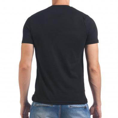 Мъжка черна тениска с Американското знаме il060616-12 3