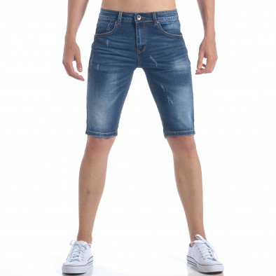 Мъжки къси дънки изчистен модел Leox 5