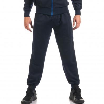 Мъжки син спортен комплект с надписи it160916-74 5
