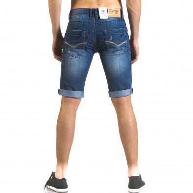 Мъжки къси дънки с допълнителни шевове it110316-70 3