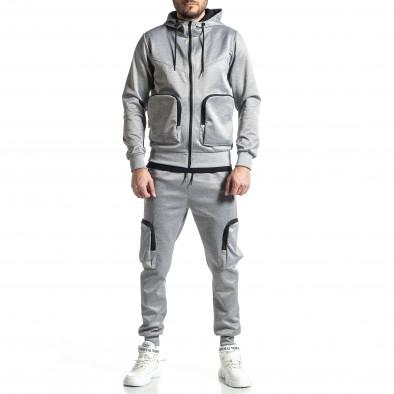 Мъжки сив спортен комплект Cagro style it010221-70 2
