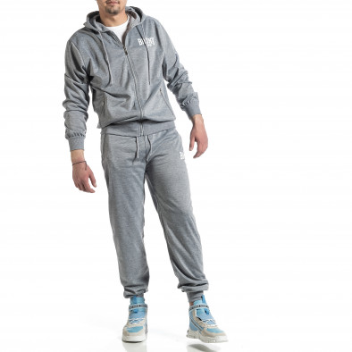 Мъжки светлосив спортен комплект Big Size it270221-55 2