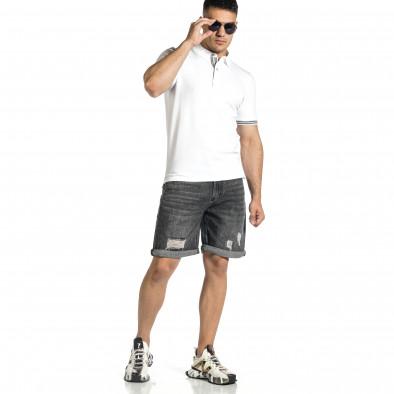 Loose fit мъжки сиви къси дънки it150521-36 4