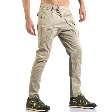 Мъжки зелен панталон с допълнителни джобове it110316-31 4