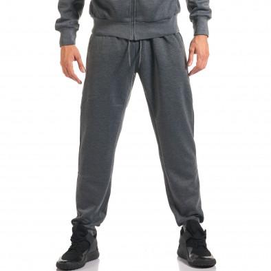 Мъжки тъмно сив спортен комплект с релефен надпис N&Y it160916-81 5