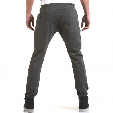 Мъжки светло сив панталон с малък детайл отпред it090216-1 3