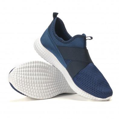 Мъжки сини маратонки без връзки it110517-5 4