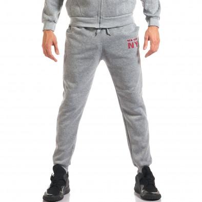 Мъжки сив спортен комплект NY it160916-62 5