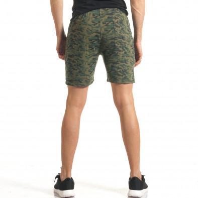 Мъжки шорти кафяво-зелен камуфлаж it140317-98 3